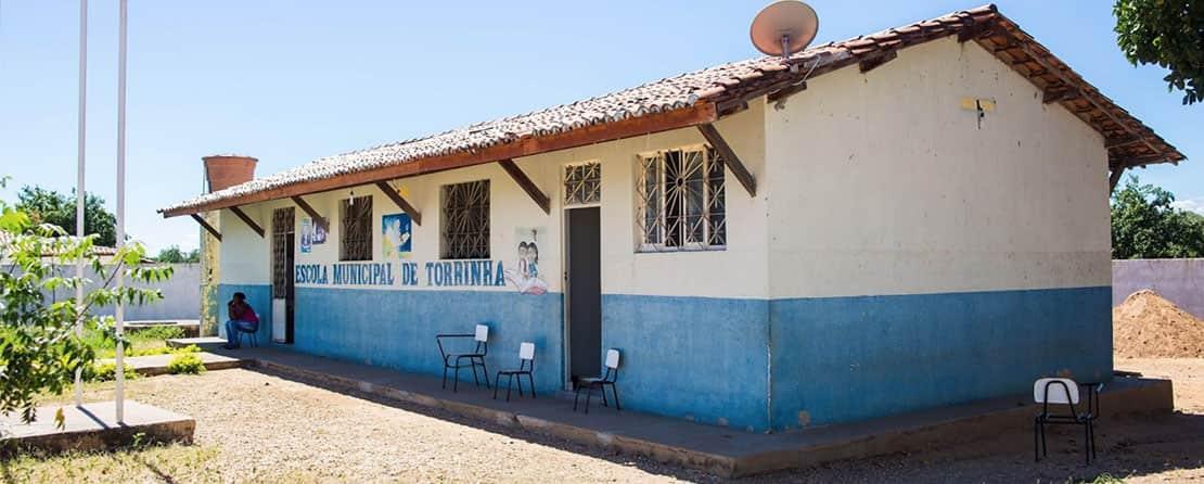Escola municipal da comunidade de Torrinhas, Julho 2019