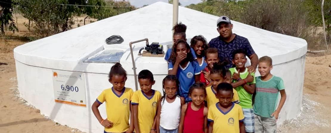 Cisterna da comunidade de Nova União, Julho 2019